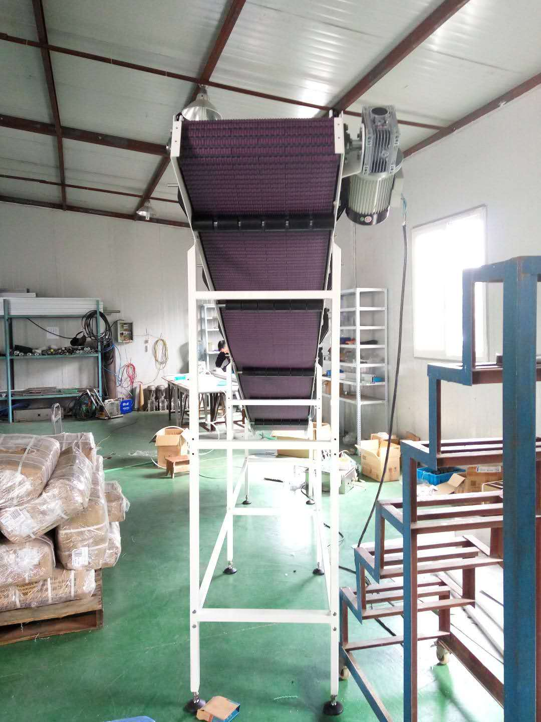 Hairise Inclined Modular Belt Conveyor with Rubber