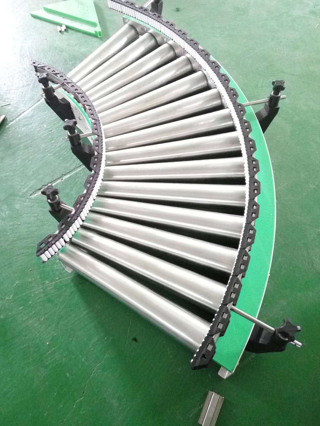 Hairise Curve Roller Conveyor with Stainless Steel Material