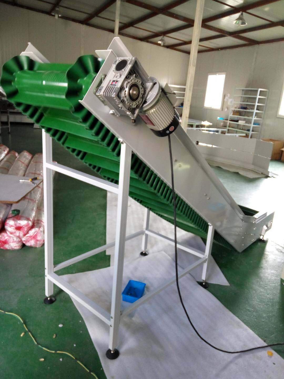 Hairise Inclined PVC Belt Conveyor with Green Color