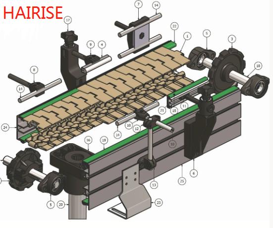 Plastic top chain conveyor