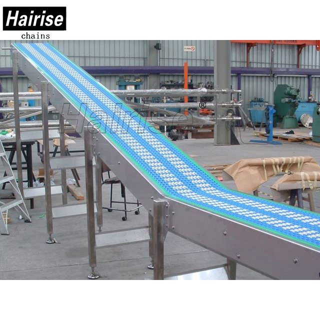 Hairise Inclined Conveyor with Skid Resistance Plastic Chains