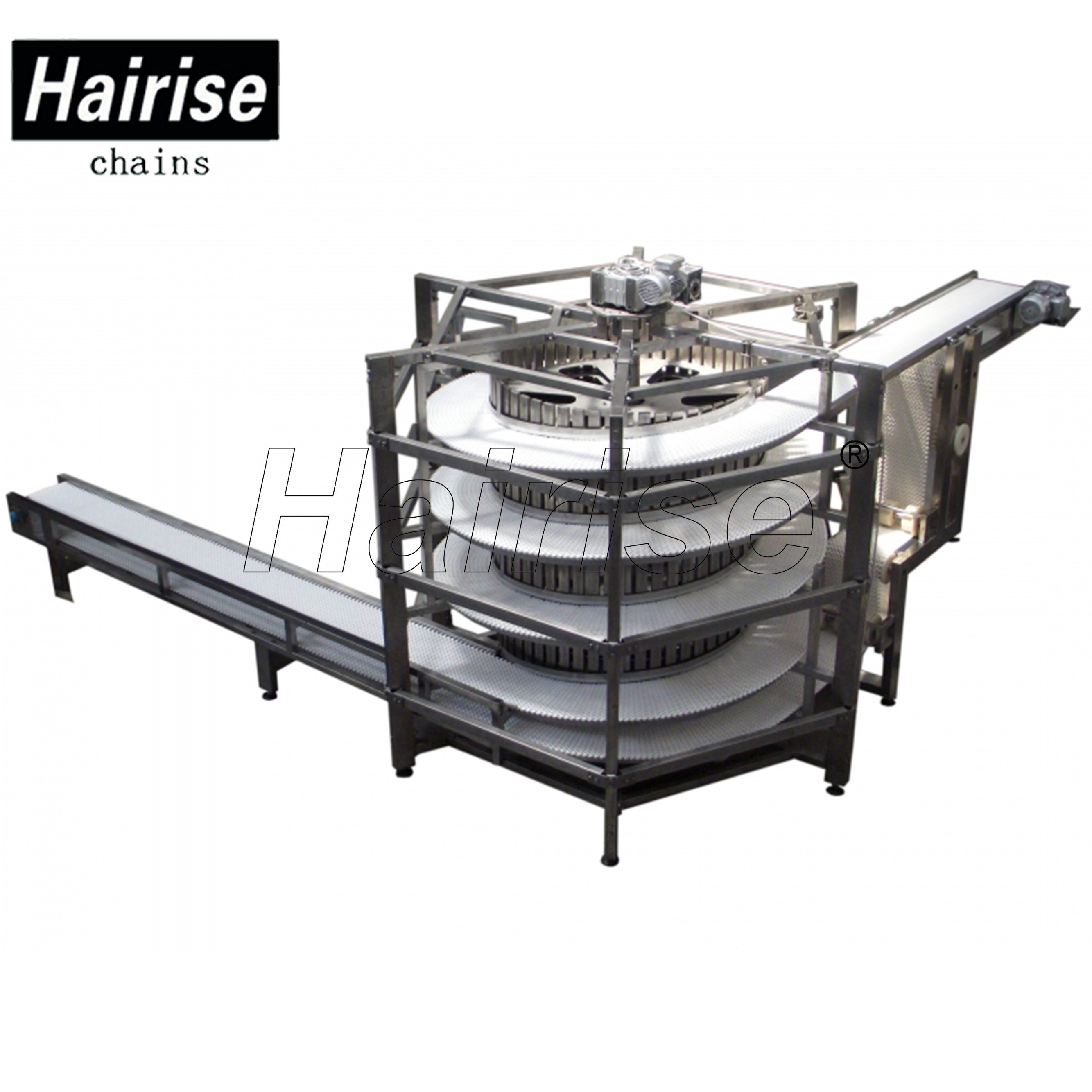 Hairise Screw Cooling Conveyors with Flush Grid Type Belts Featured Image