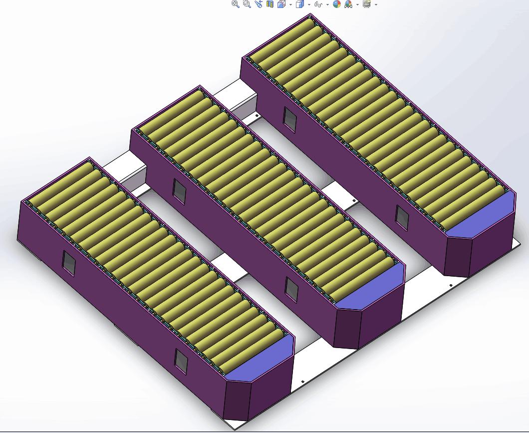 Forklift Roller Conveyor for Corrugation Factory