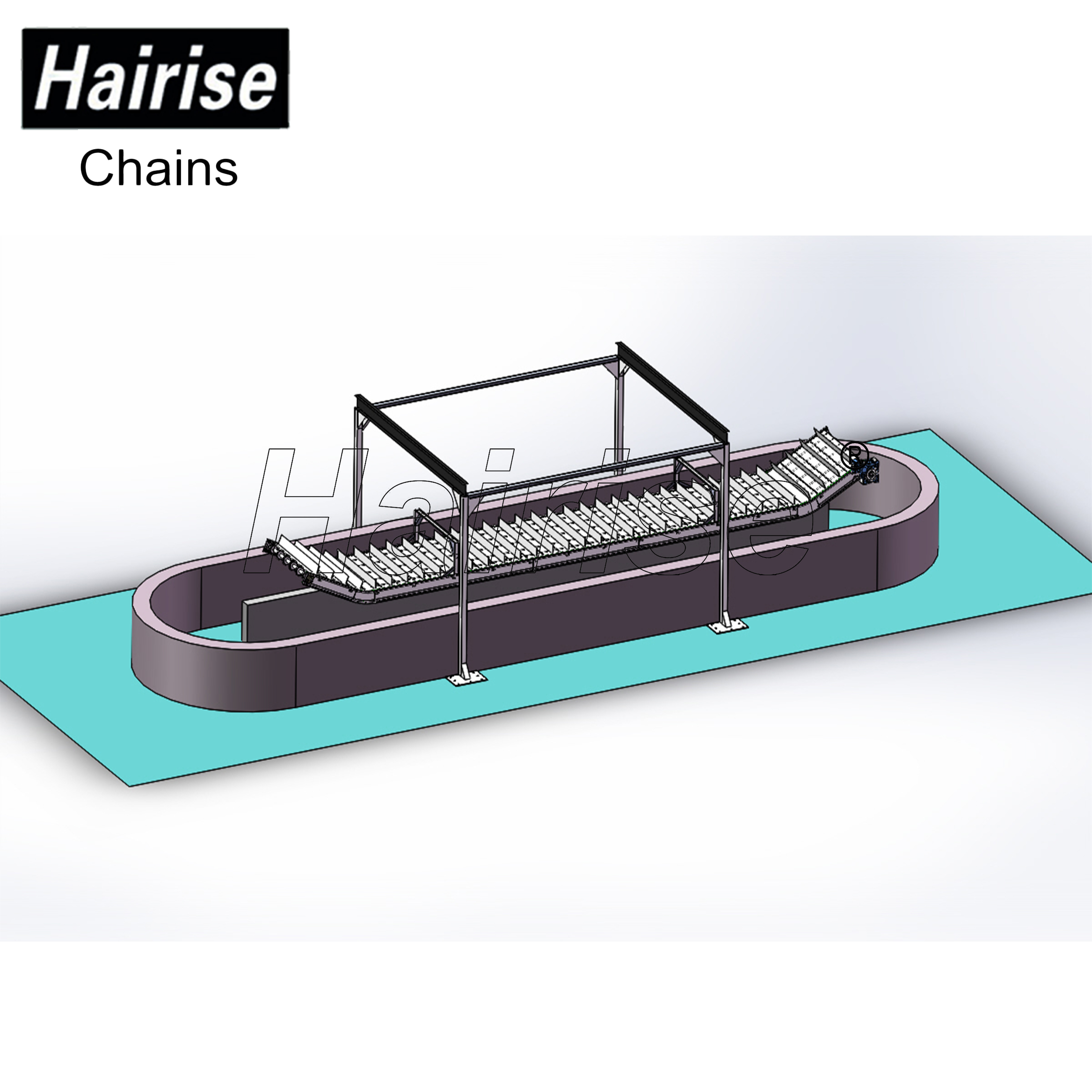 Hairise Conveyor System for Cooling Fish Industry