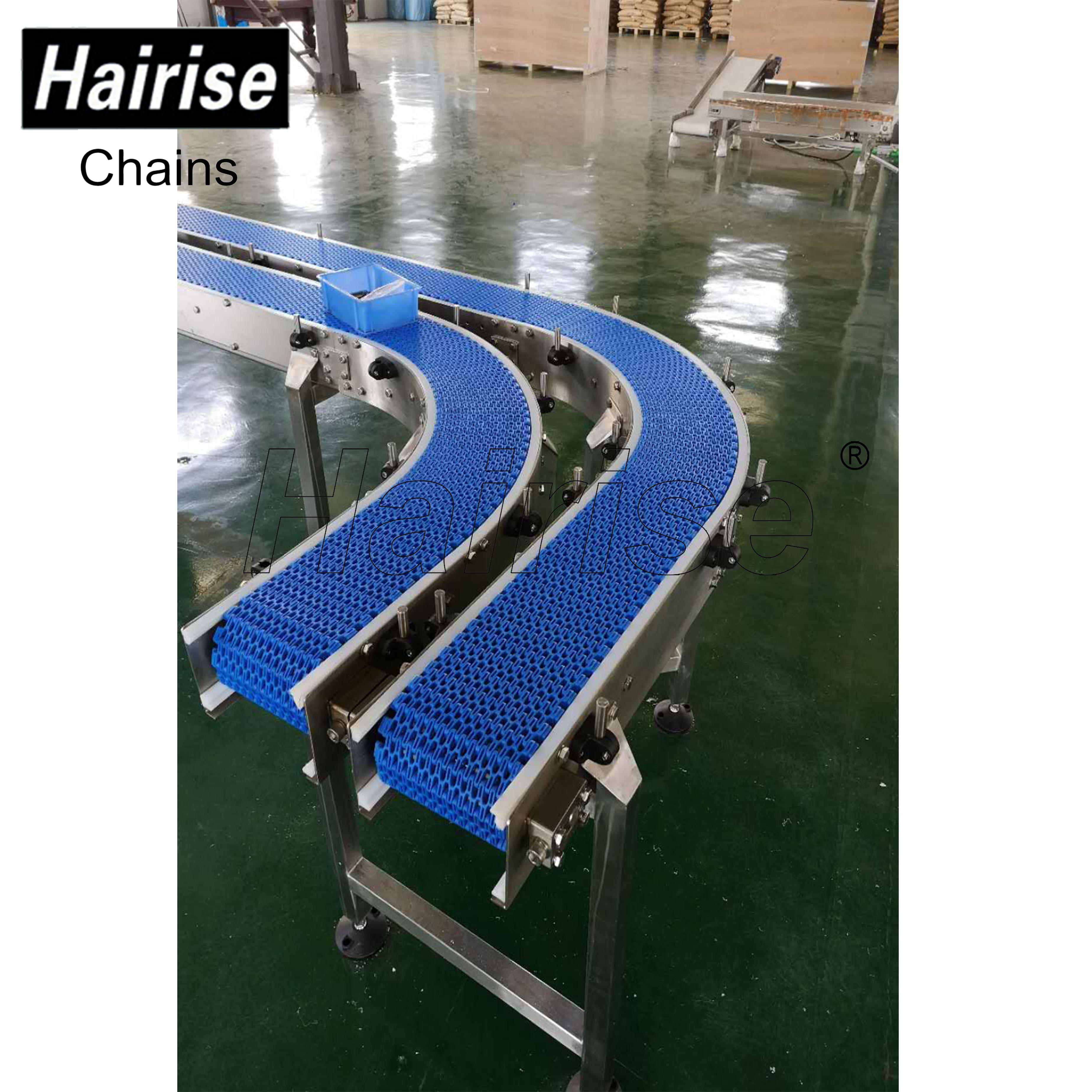 Hairise Plastic Modular Belt Conveyor with Turn