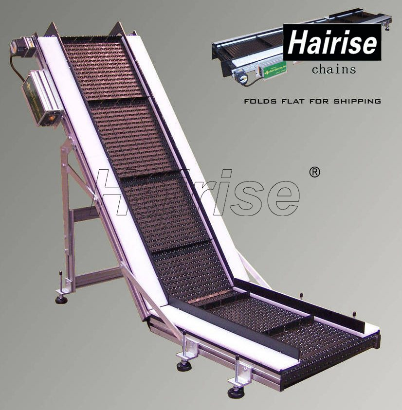 Hairise Inclined Plastic Chains Conveyor with Flights Featured Image
