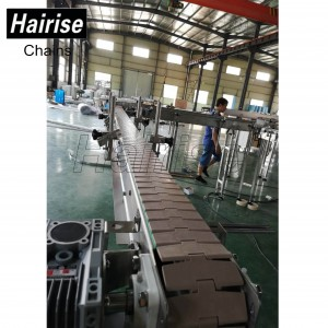 Hairise Slat Top Chain Conveyor with Turn