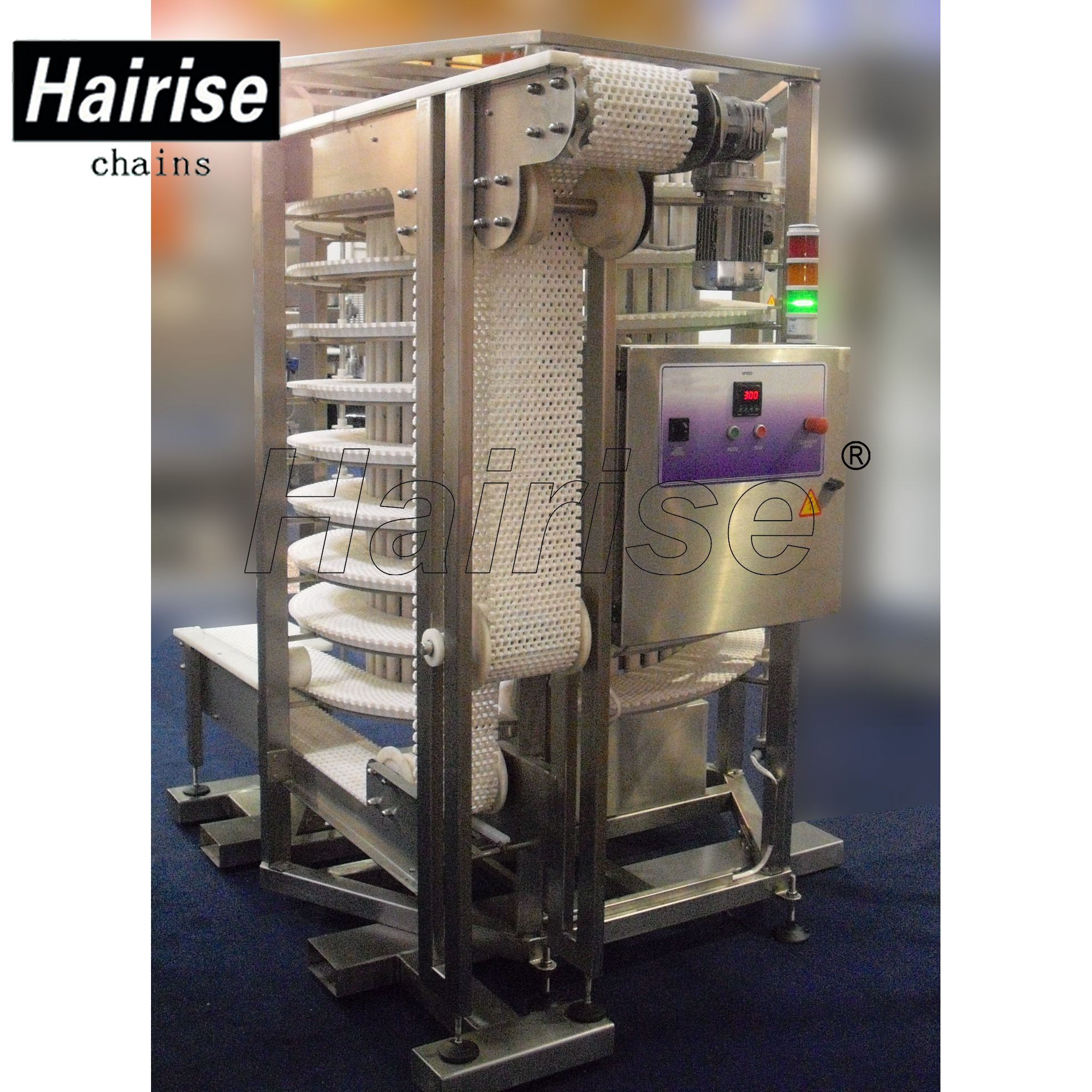 Hairise Screw Cooling Conveyors with Flush Grid Type Belts