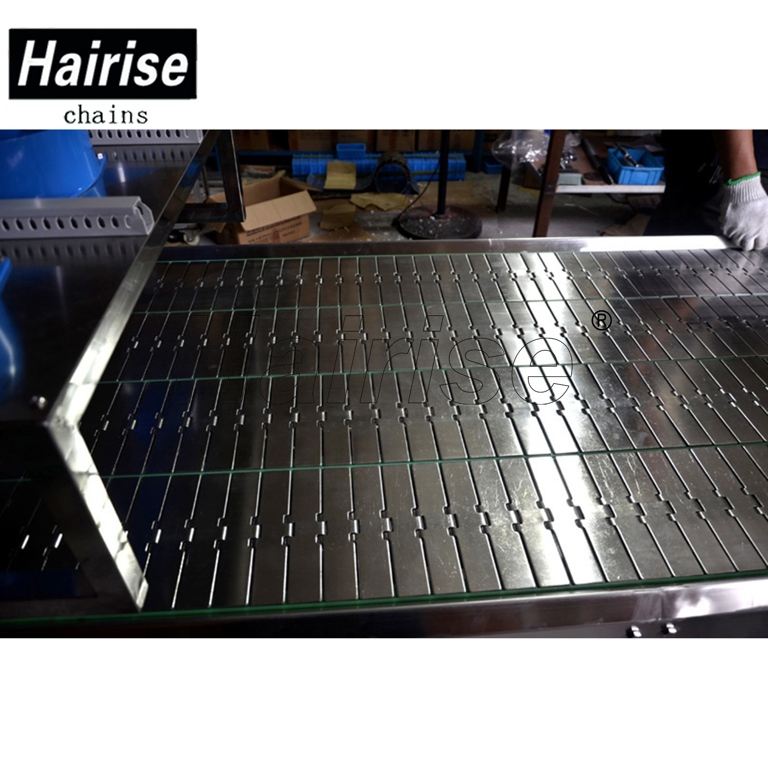 Hairise Straight Conveyor with Steel Table Top Chains