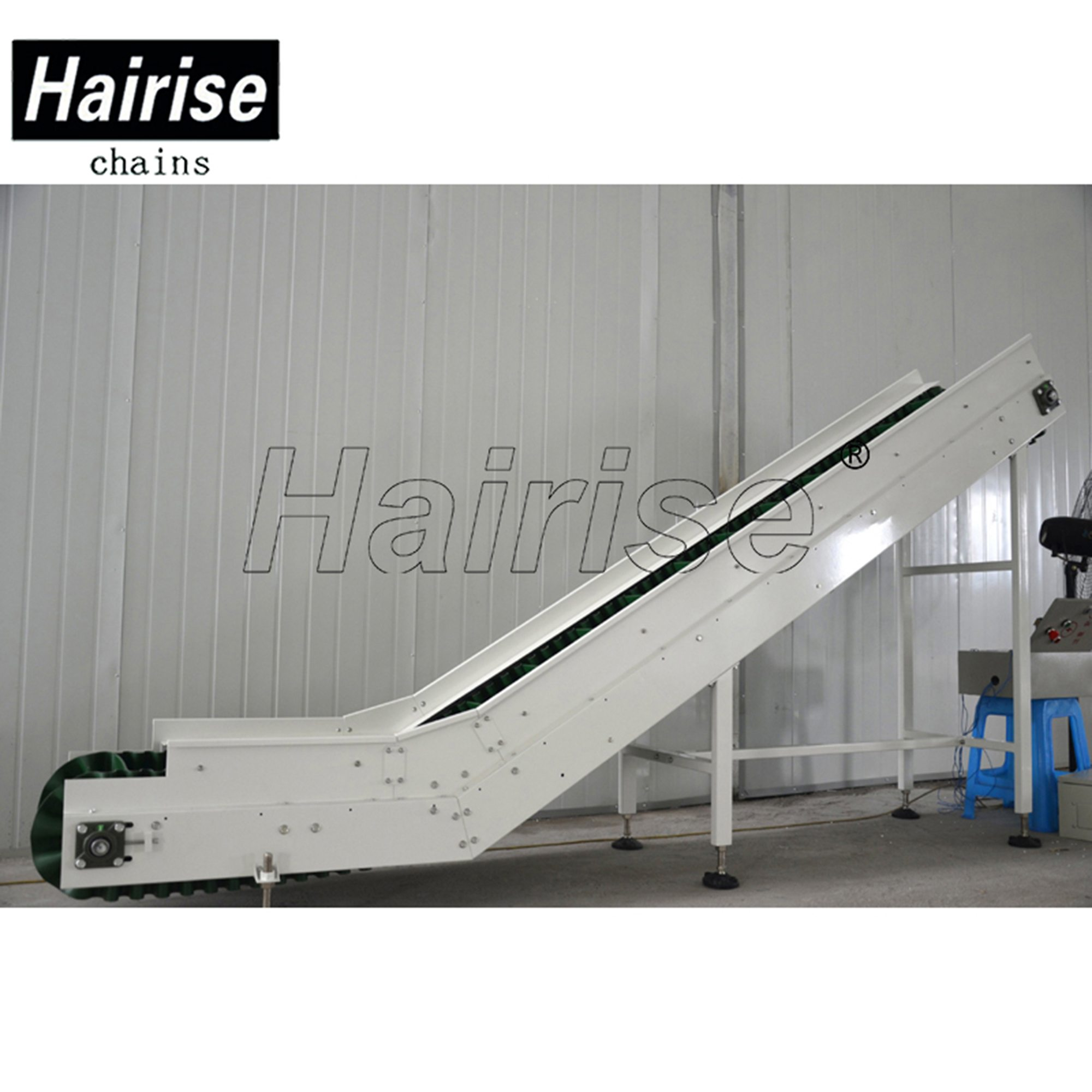 Hairise Inclined PVC Belt Conveyor System with Cleat