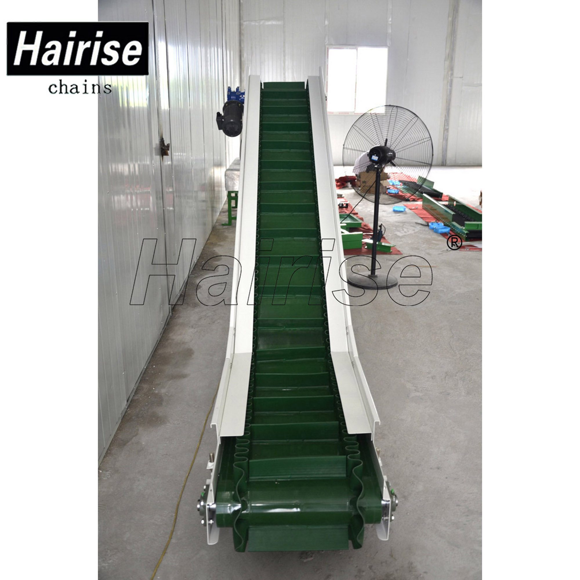 Hairise Inclined PVC Belt Conveyor System with Cleat Featured Image