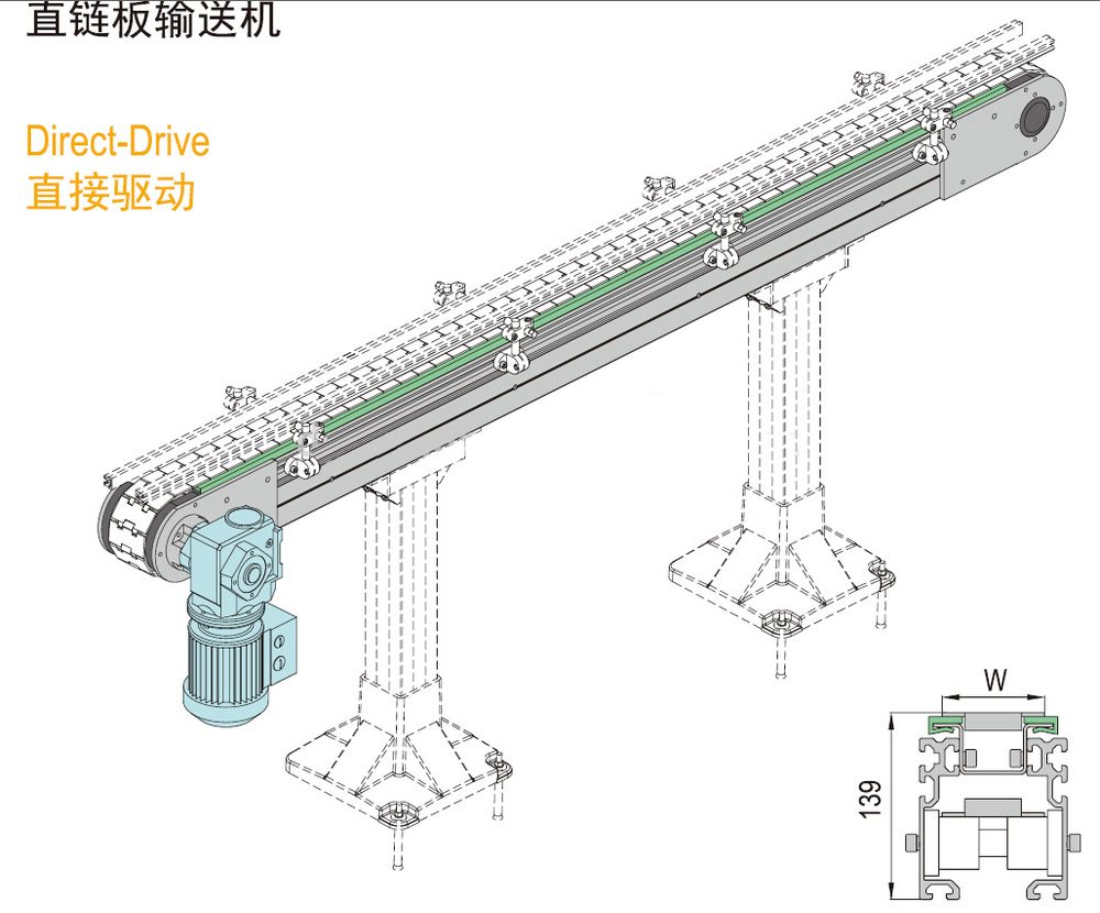 Hairise Flexible chain Conveyor Manufacturer Directly Provide