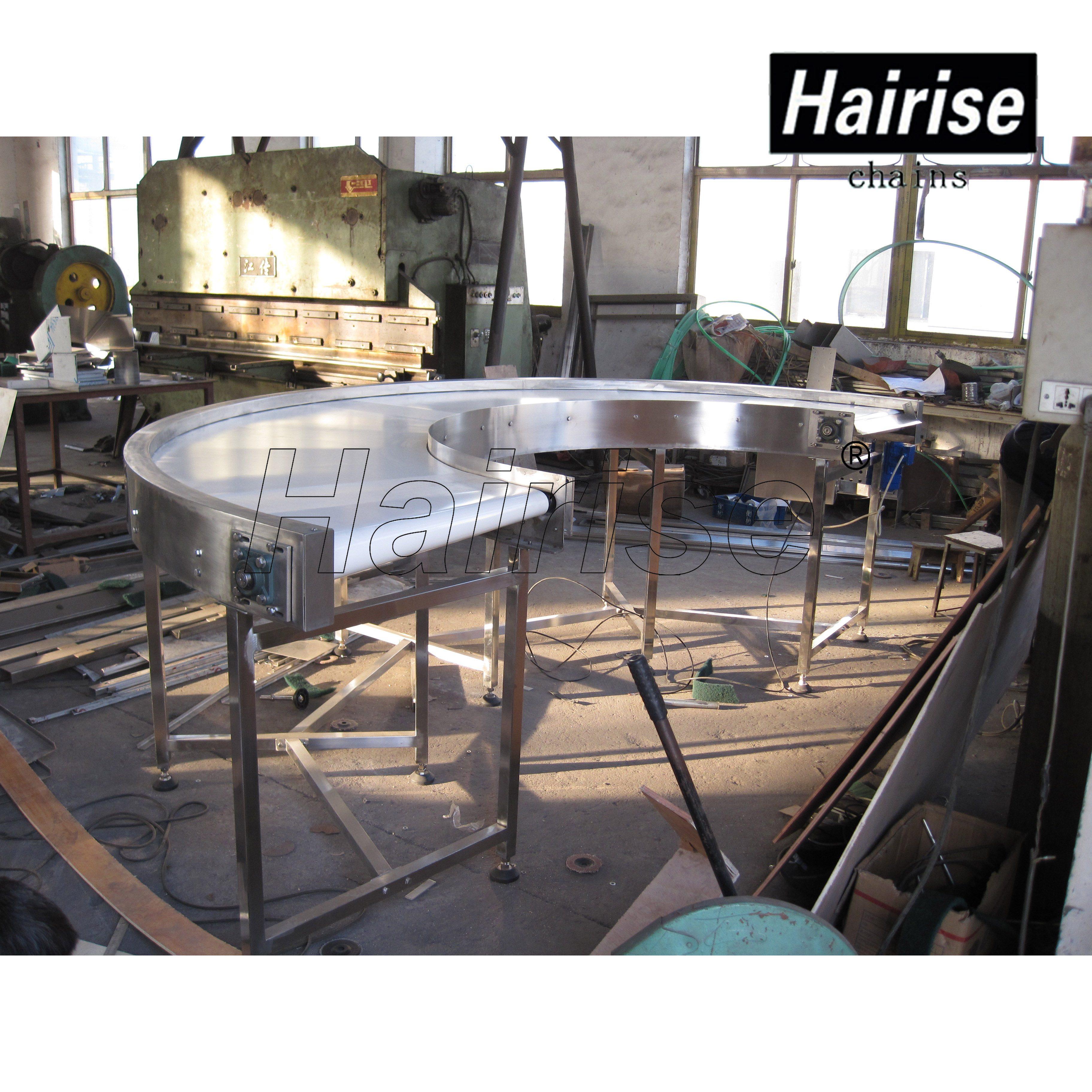 Hairise Adjustable Speed PU Belt Conveyor System
