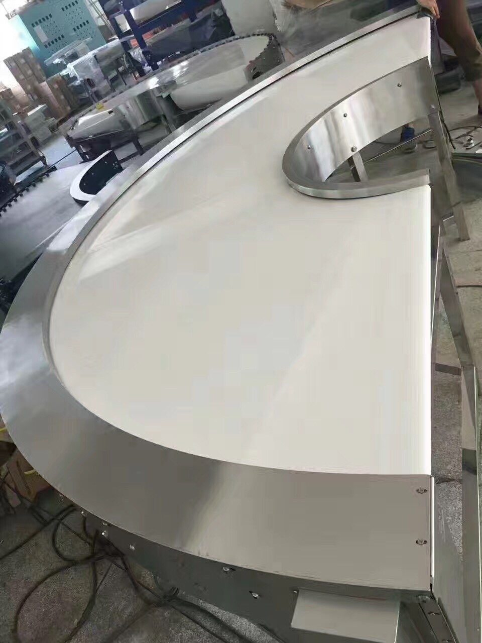 Hairise Curve PVC Belt Conveyor Sale in America