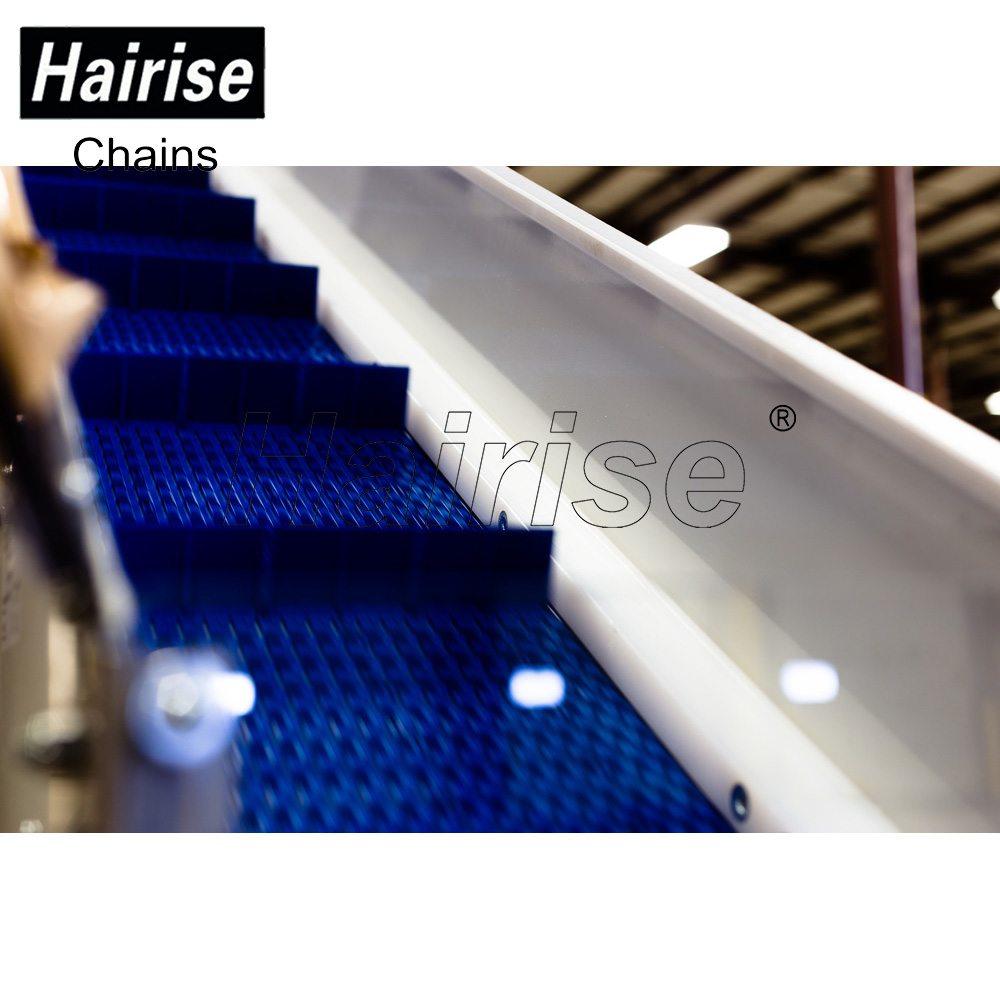 Hairise Straight Modular Belt Conveyor with Flights