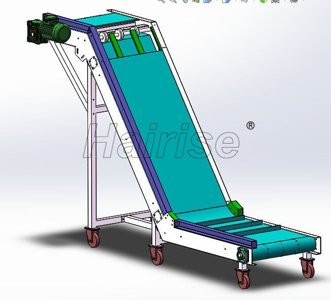 Hairise Inclined PVC Belt Conveyor with Cleats