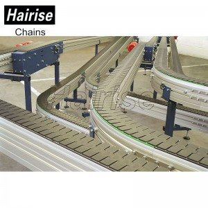 Hairise Curved Conveyors with Plastic Slat Top Chains